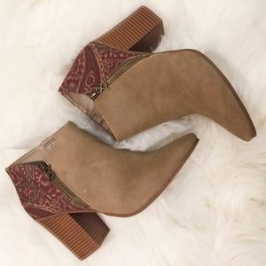 Parker & Sky Boho Booties Ankle Boots Size 10